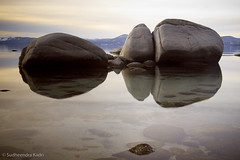 Timeless - Lake Tahoe, Nevada (Sudheendra Kadri) Tags: reflection nature water rocks nevada laketahoe tranquil sudhi sudheendrakadri bonsairocks