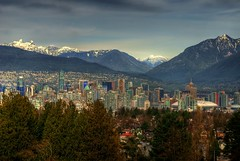 Vancouver British Columbia Skyline (Brandon Godfrey) Tags: world pictures city trees wallpaper sky urban snow canada mountains beautiful skyline vancouver clouds photoshop buildings landscape photography big scenery downtown cityscape bc photos pics earth britishcolumbia sony north free scene canadian shangrila shore pacificnorthwest northamerica metropolis van olympics condos dslr westcoast wallcentre hdr 2010 queenelizabethpark gmplace bcplace harbourcentre hotelvancouver a300 backround scotiatower photomatix tonemapped tonemapping rbctower cs5 photoamatix