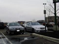 BMW M5 E60 & Mercedes E63 AMG (TYI Photos) Tags: columbus ohio usa sports car fashion america sedan silver mall grey mercedes benz us automobile european place centre gray fast lifestyle center 63 exotic german e mercedesbenz bmw vehicle 50 saloon luxury mb m5 v8 sporty v10 amg liter bavarian polaris 5series e63 e60 eclass w211 godfrys