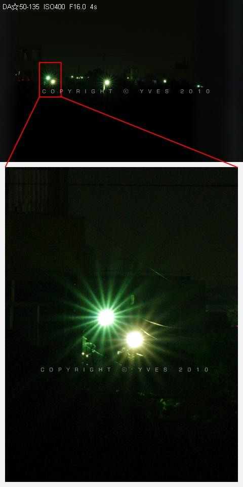 DA☆50-135mm F2.8 PK SIGMA 50-150mm F2.8 II HSM(III)畫質比較(下)(星芒、散景、