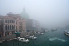 Busy Morning, Foggy Venice (Marshall Ward) Tags: venice winter italy fog marshall ward grandcanal rialto gondolas stmarkssquare vaperetto