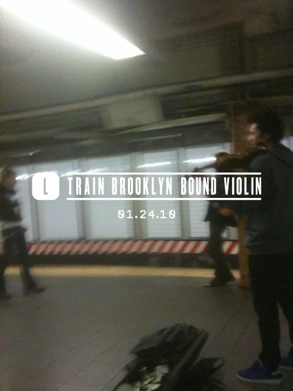 L Train Brooklyn Bound Violin