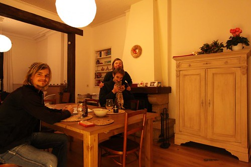 "At ""home"" with Nicolas, Sophie, and Raja The Destroyer..."