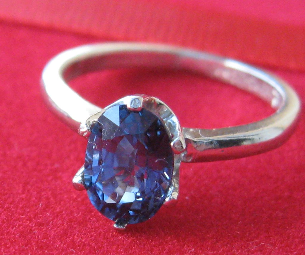 1.57 ct Blue Topaz silver ring from Crimeajewel