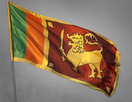 Sri Lankan Flag. Fluttering Sri Lankan flag