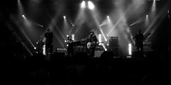 Yann Tiersen (Airicsson) Tags: show street summer urban blackandwhite bw en music white black paris france festival rock seine lumix concert noir gig nb panasonic amelie streetphoto t et blanc 2009 yann streetshot poulain tiersen blackwhitephotos lx3