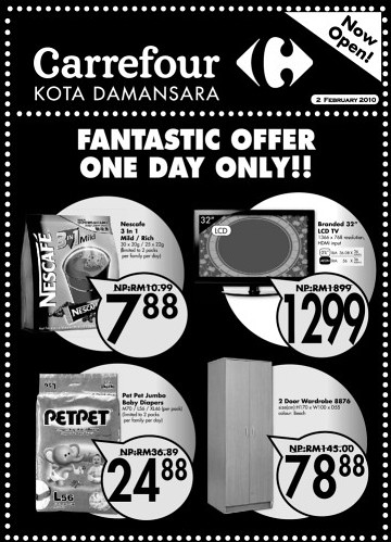 02 Feb: Carrefour Kota Damansara 1 Day Offer