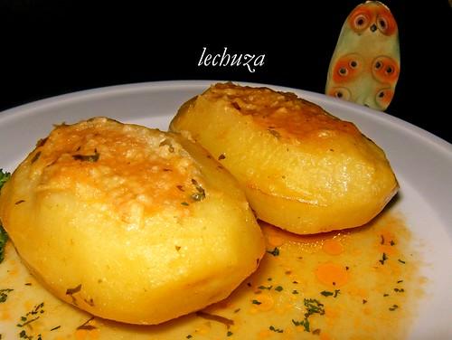 Patatas rell.bacalao-plato cerca