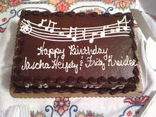 Heifetz and Kreisler Birthday Cake
