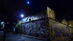 . (Le Cercle Rouge) Tags: streetart paris france colors wall night jaune dark graffiti weird colorful darkness purple violet tags giallo sombre graff nuit colorz yallow obscure trange spry tranger lecerclerouge