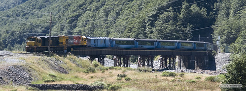 The Train Arriving at Arthurs Pass