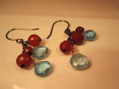 Chalcedony Carnelian (BabyG06) Tags: red design necklace beads wire wiring handmade stones jewelry hobby earrings gems beading crafting gemstones torquoise carnelian wirewrapping chalcedony