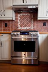 cafe steel profile gas ge range stainless appliances backsplash duvbo