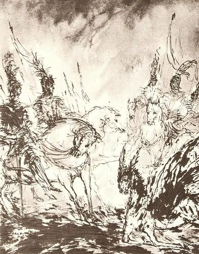 Раскаяние осла. Иллюстрация к Орлеанской девственнице Вольтера.1934
