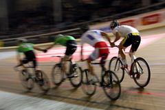 Six Day Race - Men in Tight Pants Holding Hands