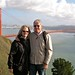 Mike and Susan above Golden Gate Bridge