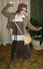 Saturday 004 (Moniquill) Tags: vintage costume cosplay newengland gaming rhodeisland steampunk neovictorian dieselpunk steampunks decopunk templecon templecon2010