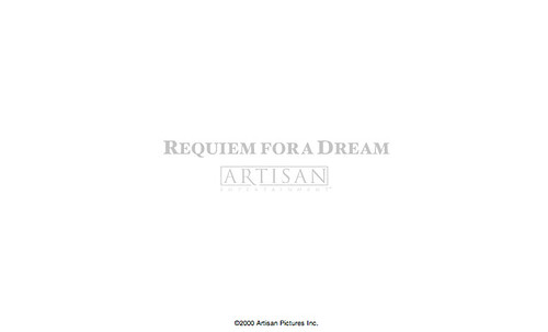 Requiem for a Dream - release website, anno 2000