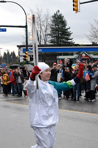 Olympic Torch in Lynn Valley, North Vancouver B.C. Feb 10 2010 -14