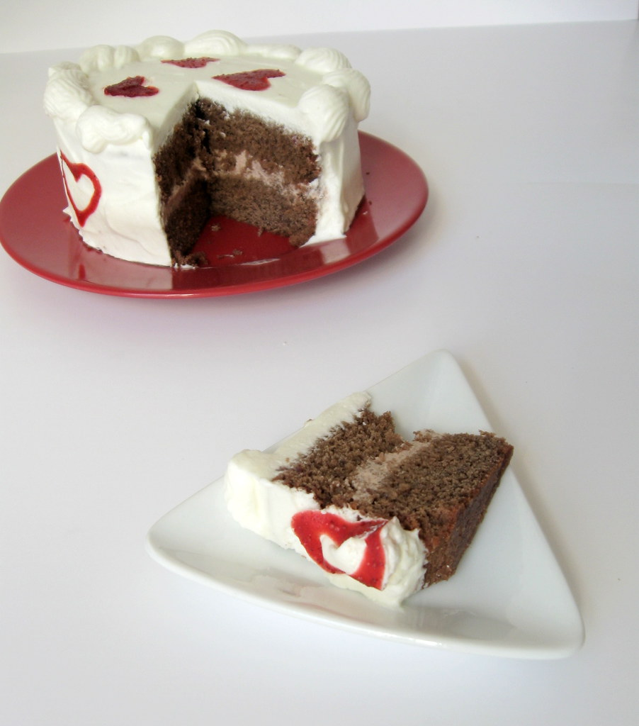 Slice and sliced cake