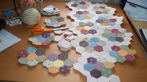 Flower Garden Quilt Progress