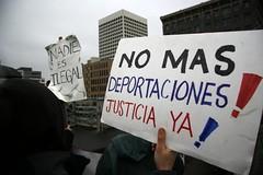 No Mas Deportaciones! Justicia Ya!