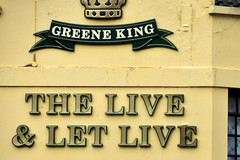 Live and Let Live (RobW_) Tags: road bridge england london sign pub sunday february fulham wandsworth 2010 liveandletlive feb2010 14feb2010