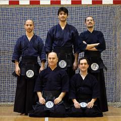 Exmenes de Dan, Madrid 14-02-2010 (Ametxa) Tags: men do geiko hakama kata kendo shinai bokken kote zanshinmadrid kendogi