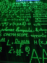 Math formulas up the wall by trindade.joao, on Flickr