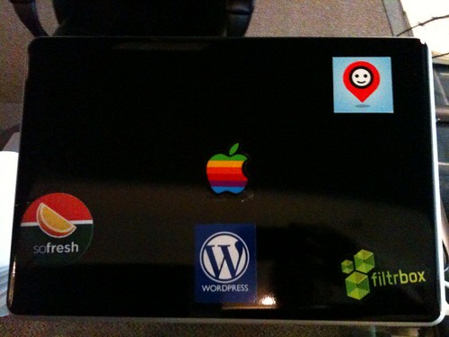 Nice I have a @TriOut sticker on my MacBook pro #stickers! :)