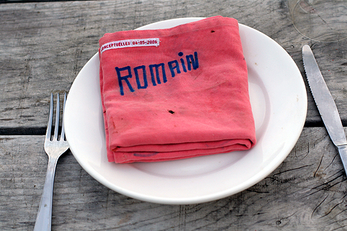 romain's napkin
