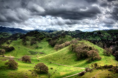 The Kingdom (Mahnie) Tags: california trees foothills grass clouds landscape rocks e