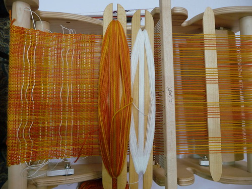 beautiful woven cloth with shibori shots