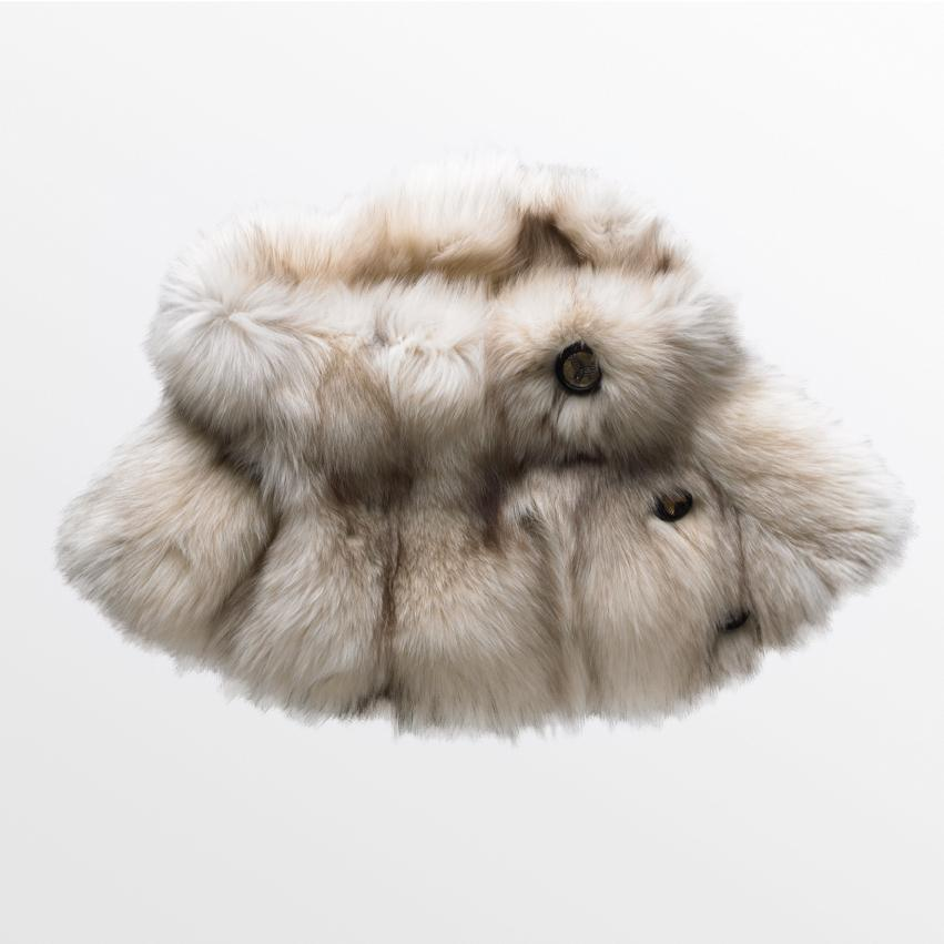 Harricana recycled fur wrap capelet
