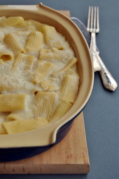 Pasta al forno con crema al finocchio