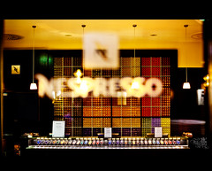 Nespresso. what else? (t0m_ka) Tags: light coffee colors canon munich mnchen 50mm licht george cafe mood bokeh f14 kaffee espresso georgeclooney nestle clooney farben nespresso ba4376162732