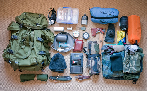 Bushcraft Kit used on Woodland Ways trip by Documentally, on Flickr