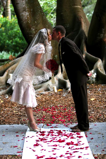 Wedding Kiss Under The Banyan Tree - by Andy Graber