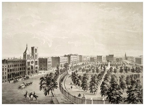 023-New York-vista de Union Park desde Broadway 1849-The Eno collection of New York City-NYPL