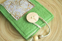 spring green wool felt covered notebook...organize your thoughts!