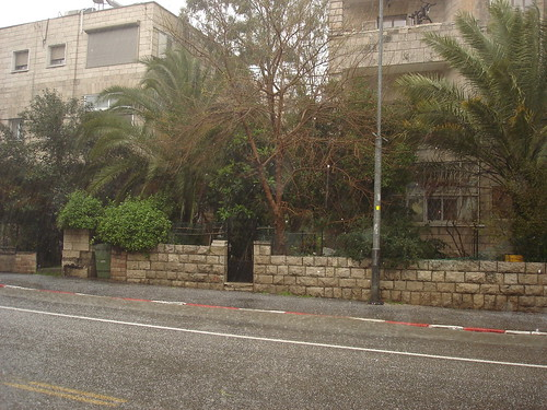 Sleet on Emek Refaim Street