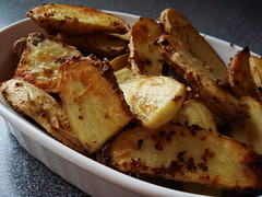 CSA Winter 5: Mustard Roasted Fingerling Potatoes