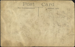 Reverse WW1 Postcard