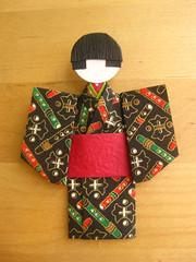Japanese Chiyogami Paper Doll - Kenta (umeorigami) Tags: japan paper japanese origami doll handmade paperdoll papercraft washi ningyo chiyogami shioriningyo warabeningyo