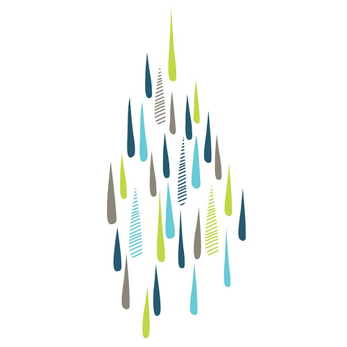 rainy day wall sticker/decal