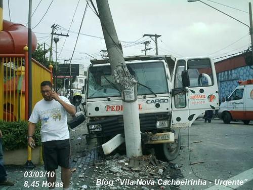 Acidente na Vila Nova Cachoeirinha
