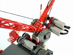 """Mammoth"" Heavy Maintenance Unit (Pierre E Fieschi) Tags: electric giant power lego crane maintenance motor functions heavy tread unit microspace fieschi microscale microspacetopia pierree"
