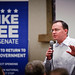 Mike Lee speaks to volunteers
