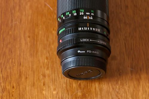 [ANNULE] Objectif Canon FD 200mm f/2.8 avec adaptateur m4/3 4410499935_be8741d76c