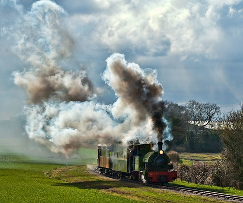 Steaming out of the sun (geoffspages) Tags: geotagged steam narrowgauge statfold trangkil geo:lat=52655275 geo:lon=1642735